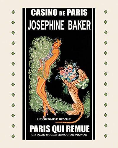 Josephine Baker Casino Paris Theater Qui Remue Vintage Poster Repro FREE SHIP