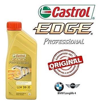 Mantenimiento aceite CASTROL EDGE PROFESIONAL LL04 5W30 5LT+4 FILTROS BOSCH BMW 318D E46: Amazon.es: Coche y moto