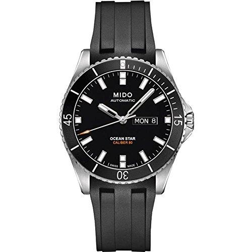 Mido Ocean Star Captain V M026.430.17.051.00 Black / Black Rubber Analog Automatic Men's Watch -  M0264301705100