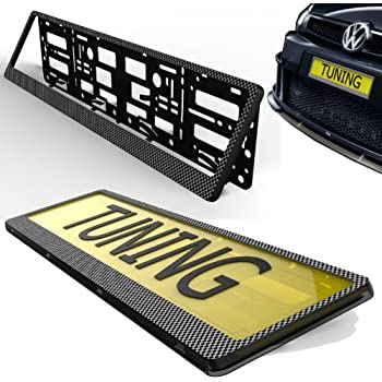 Pink Effect 2 x Universal Number Plate Holders Surrounds Frames Any Car