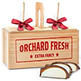 Golden State Fruit Nuts for Pecans and Almonds Chocolate Dipped Caramel Apples In Wooden Gift Crate