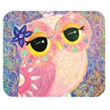 Owl Painting Art Design Customized Rectangle Mouse Pad