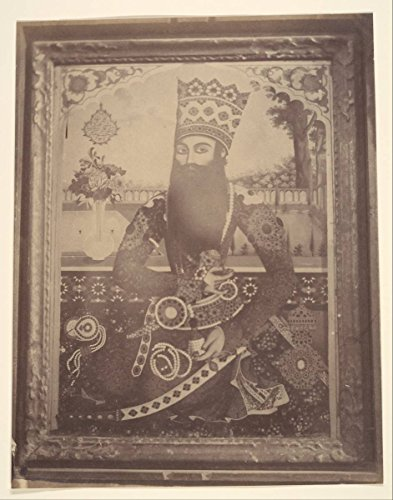 Historic Photograph | Possibly by Luigi Pesce | Fath-Ali Shah, Painting That Once Belonged to Hmah ? Saula, Uncle of The King. | Vintage Wall Art Décor Poster Reproduction | 16in x 20in