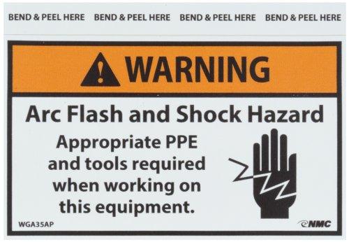 NMC WGA35AP Arc Flash Label, Legend