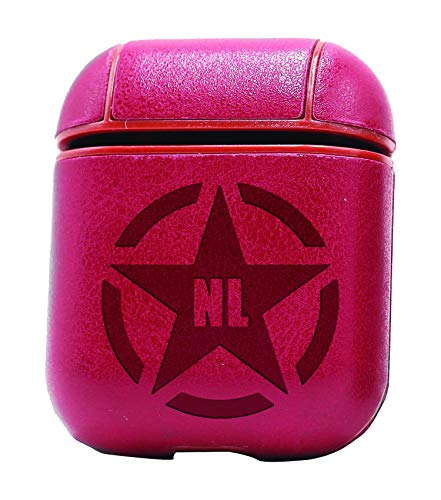 Army Ster NL 13 (Vintage Pink) Air Pods Protective Leather Case Cover - a New Class of Luxury to Your AirPods - Premium PU Leather and Handmade exquisitely by Master Craftsmen ()