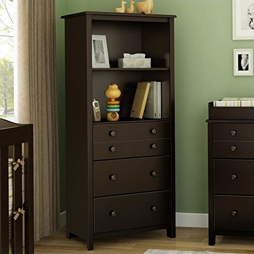 Maple Tall Chest - South Shore Litte Smiley's Storage Unit, Chocolate