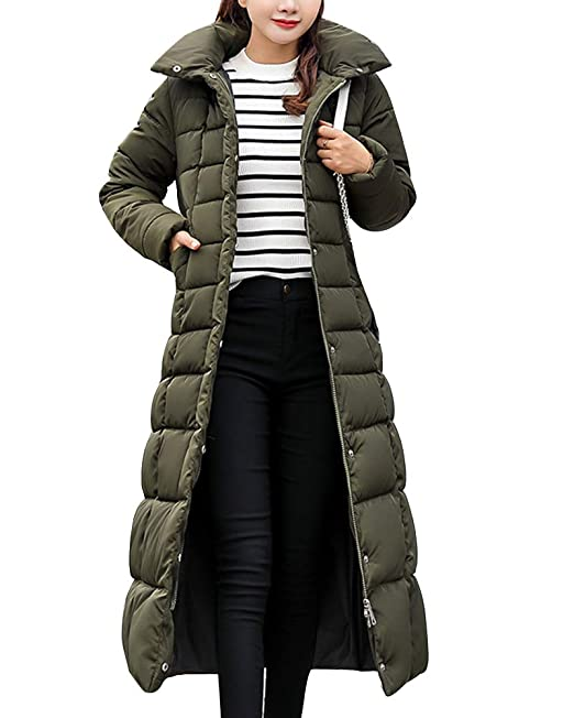 a099219b940 Guiran Women Warm Coat Padded Parka Casual Thicker Winter Hooded Down  Jacket Long Overcoat Outerwear  Amazon.co.uk  Clothing