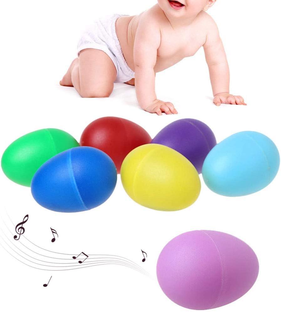 Manman 1 Pezzo di Sabbia di plastica Uova Strumenti Musicali a percussione Primi Giocattoli educativi Bambini Colori a Caso