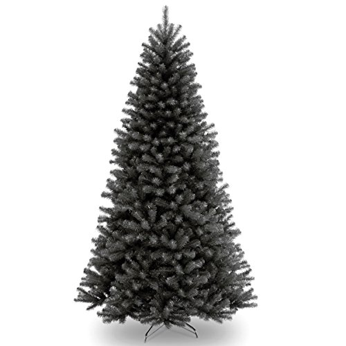 National Tree 7.5 Foot North Valley Black Spruce Tree Black Artificial Christmas Tree