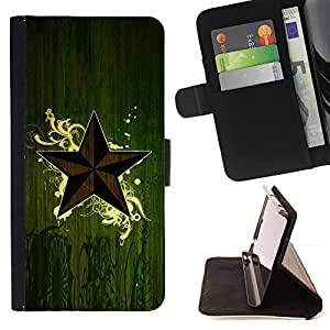 DEVIL CASE - FOR Samsung ALPHA G850 - Star Symbol Art Nature Green Eco Mystical - Style PU Leather Case Wallet Flip Stand Flap Closure Cover