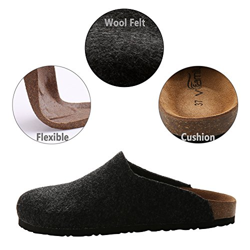 for Home Red Girls Clogs Grey VVFamily Womens Slippers House Wine Ons Sandals Slip Black Beige Black xWnxIY6
