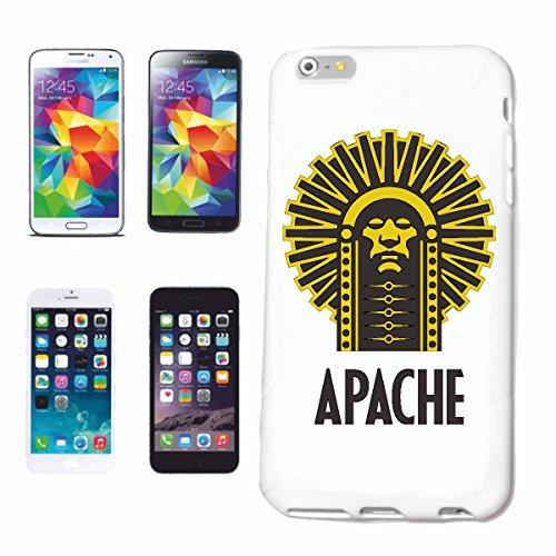 """cas de téléphone iPhone 6S """"INDIAN CHIEF APACHE INDIAN INDIAN VISAGE TRIBE INDIAN BIJOUX INDIAN WIG INDIEN"""" Hard Case Cover Téléphone Covers Smart Cover pour Apple iPhone en blanc"""