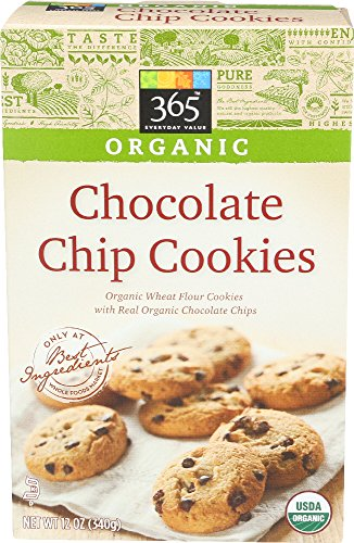 365 Everyday Value, Organic Chocolate Chip Cookies, 12 Ounce (Foods True Market)