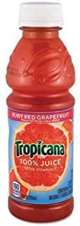 product image for Tropicana 57161 100% Juice, Ruby Red Grapefruit, 10oz Bottle, 24/Carton