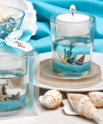 Stunning beach-themed candle favor, 72 by Fashioncraft