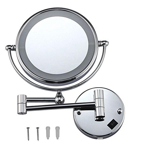 Wall Mount Makeup Vanity Mirror With Led Light Polished