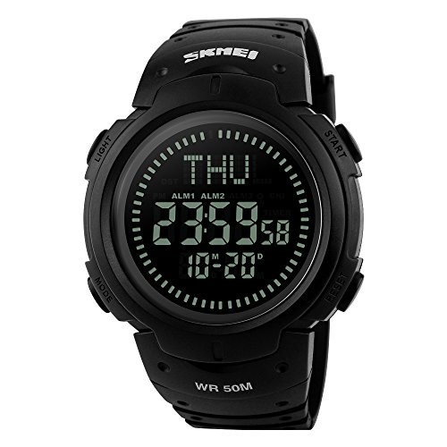 Multi Function Digital Compass (Bounabay Men's Digital Multifunction Sports Watch with)