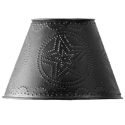 "Black Star Punched Tin 10"" Lamp Shade"