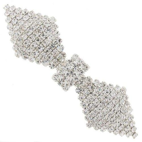 (Encrusted Bow Austrian Crystal Bridal Hair Barrette French Clip by Bridal Wedding Accessories.co.uk)
