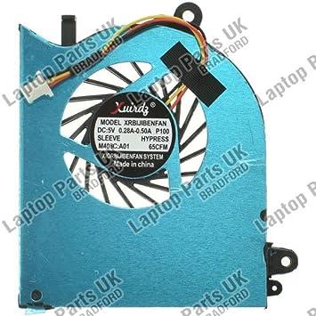 Laptop Parts UK (UK VAT Registered) Ventilador de Refrigeración para Ordenador Portátil de la Serie MSI GS60 (Reino Unido con IVA registrado): Amazon.es: ...