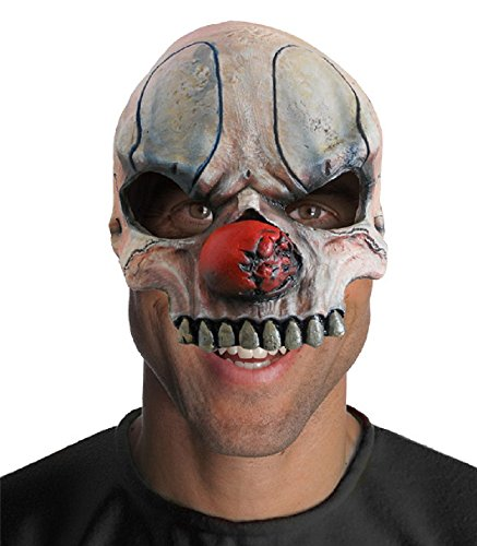 Costume Chuckles Clown The (Rubie's Costume Half Chuckles Chinless Clown Mask, Gray, One)