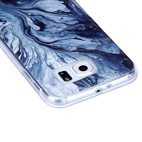 Funda Galaxy S6,SainCat Moda Alta Calidad suave de TPU Silicona Suave Funda Carcasa Caso Parachoques Diseño pintado Patrón para Carcasas Samsung Galaxy S6 TPU Silicona Flexible Candy Colors Ultra Delg Treestone