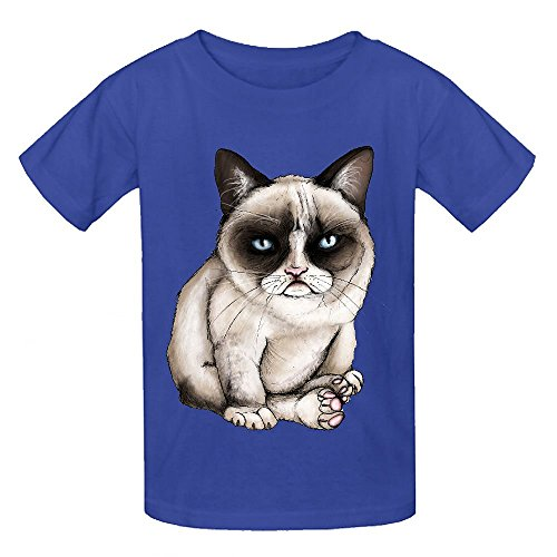 Chas Tard The Original Grumpy Cat Child Crew Neck Personalized T-shirt Blue (Walking Dead Dog Merchandise compare prices)