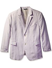 Men's Big-Tall Big and Tall Solid Linen Suit Jacket