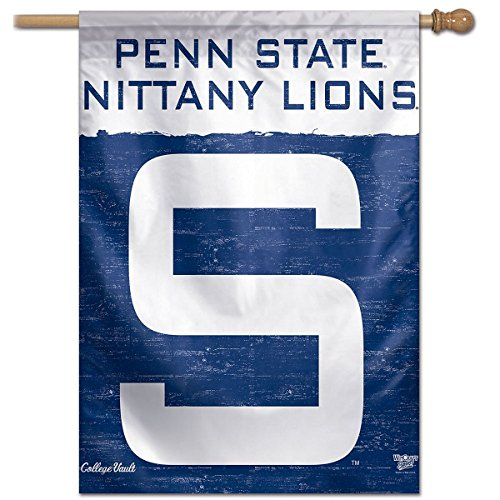 Penn State Nittany Lions Vault Throwback Retro Vintage House Flag (Penn Banner Nittany State Wall Lions)