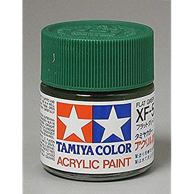 Tamiya America, Inc Acrylic XF5 Flat, Green, TAM81305: Toys & Games