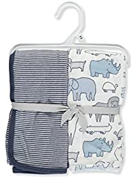 Baby Boys' 2-Pack Swaddle Blankets