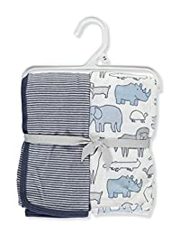Carter's 2-Pack Swaddle Blankets - blue/multi, one size