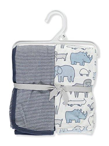 Carters 2 Pack Swaddle Blankets Safari