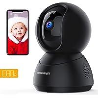 Apeman 1080P Telecamera di Sorveglianza Wifi, Videocamera IP Interno,Visione Notturna a Infrarossi, Audio Bidirezionale, Baby Per Monitor, Sensore di Movimento, Compatibile iOS/Android