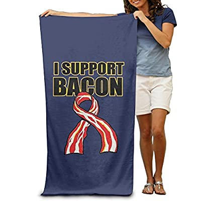 ShanxianP Support Bacon Funny Soft Fast Drying Beach Towel Pool Towel 3050