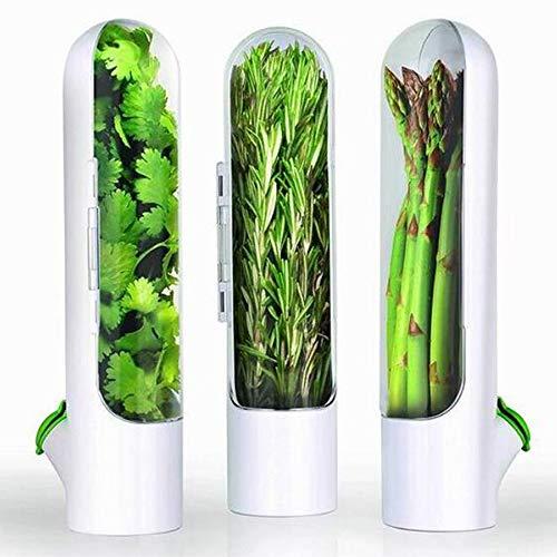YANZHU Premium Verse Kruidenbewaarder en Kruidenbewaarbak – Glazen Smaakbeschermer Houdt Groenten en Fruit 2-3 Weken…