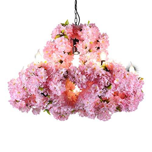Chandeliers Plant Shop Decoration Bar Party Music Restaurant Decoration Cherry Blossom Cafe (Color : Pink, Size : 6060cm) ()