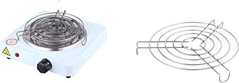 MAXELL POWER Cocina ELECTRICA para Shisha con Grill CACHIMBA Carbon HORNILLO 1000W Colores (Blanco): Amazon.es: Deportes y aire libre