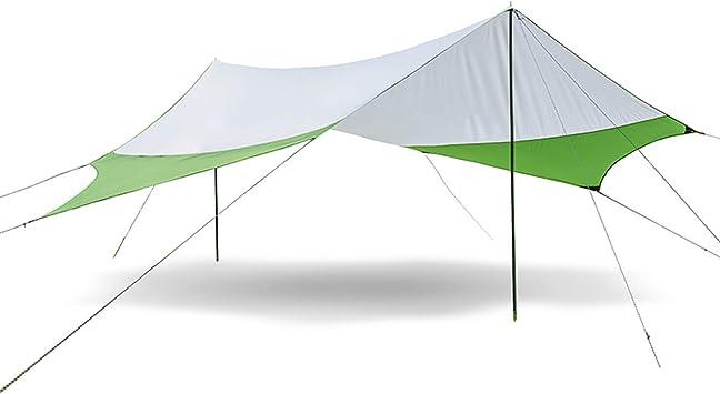 Camping Carpa Tienda de campaña para la Playa Sombra Sol Refugio toldo toldo con Postes, Ligero portátil Impermeable para Senderismo Pesca Picnic