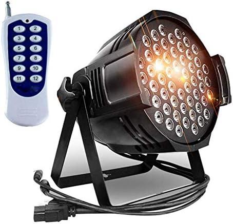 IhDFR ディスコボールライト、ステージライト、54個のLEDライトパーティー7照明モードディスコDJライトRGBカラフルなストロボライト柔軟なリモートコントロールDMXコントロールパーライト (Size : 2pcs)