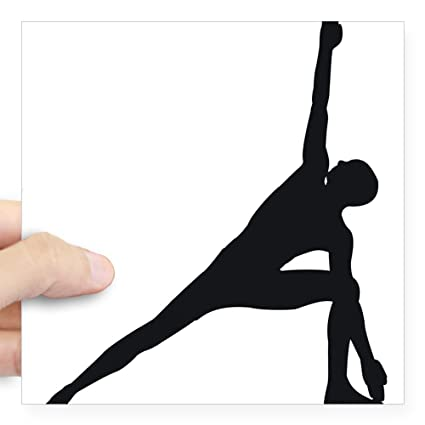Amazon.com: CafePress Bikram Yoga Triangle Pose Square ...