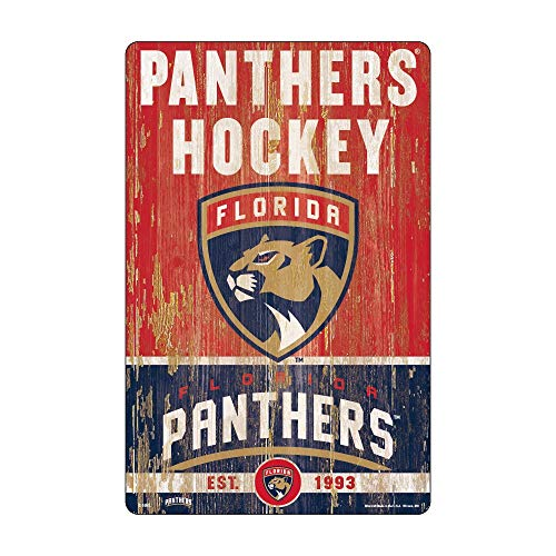 WinCraft NHL Florida Panthers Unisex 11x17 Wood Signslogan Design, Team Color, One Size