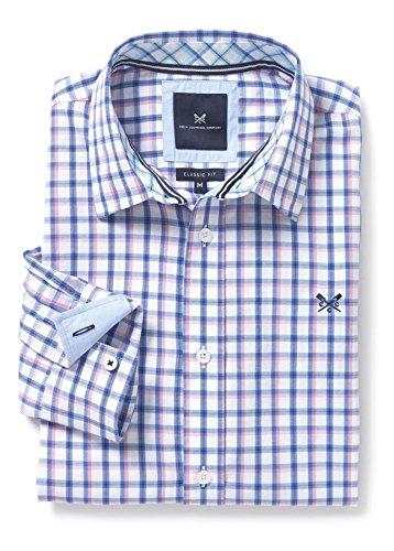 Crew Clothing Herren Freizeit-Hemd blau Blauer Topas Einheitsgröße