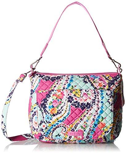 Vera Bradley Carson Shoulder Bag, Signature Cotton, Wildflower Paisley, - Backpack Carson