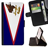 STPlus American Samoa, Territories Flag USA United States of America Wallet Card Holder Cover Case for Apple iPhone 7 Plus