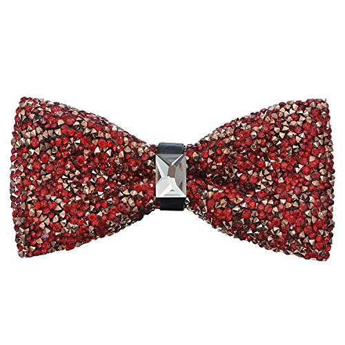 Oliver George Glitter Bow Tie (Rose (Red Gold Bow)