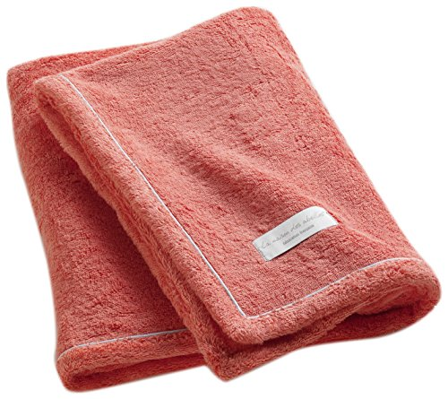 Poyet Motte Made In France Essential French Terry Cloth Ultra Absorbent Bath Towel, Coral