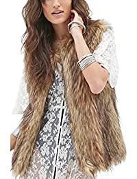 Women's Fashion Autumn and Winter Warm Short Faux Fur Vests