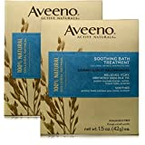 Aveeno Soothing Bath Treatment For Itchy, Irritated Skin, 2 Packs of 8 Count