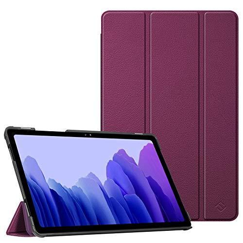 Fintie Slim Case for Samsung Galaxy Tab A7 10.4'' 2020 Model (SM-T500/T505/T507), Ultra Lightweight Tri-Fold Stand Protective Cover with Auto Wake/Sleep, Purple